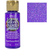 decoart glittery glass paint purple DAGG08