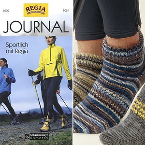 sock knitting pattern pamphlet regia journal 4009 sports sock patterns with ankle socks