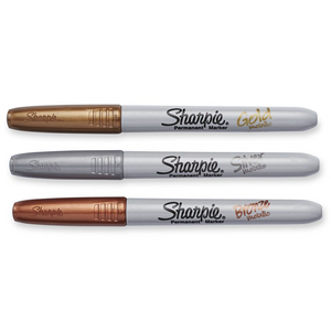 Sharpie Metallic Markers, Gold, Bronze, Silver