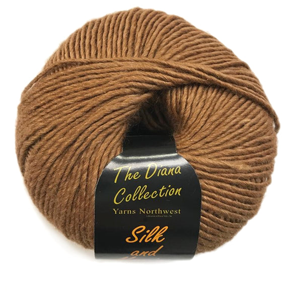 yarns northwest diana collection silk and merino inca gold