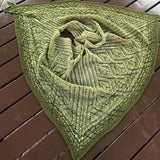 back and forth green starstruck shawl by adrienne larsen