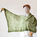 adrienne larsen starstruck shawl back and forth green