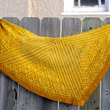star shaped shawl foulded over worn double thickness
