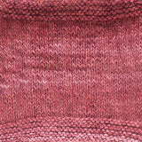 urth yarns kashmir mono pinks 704 knitted swatch