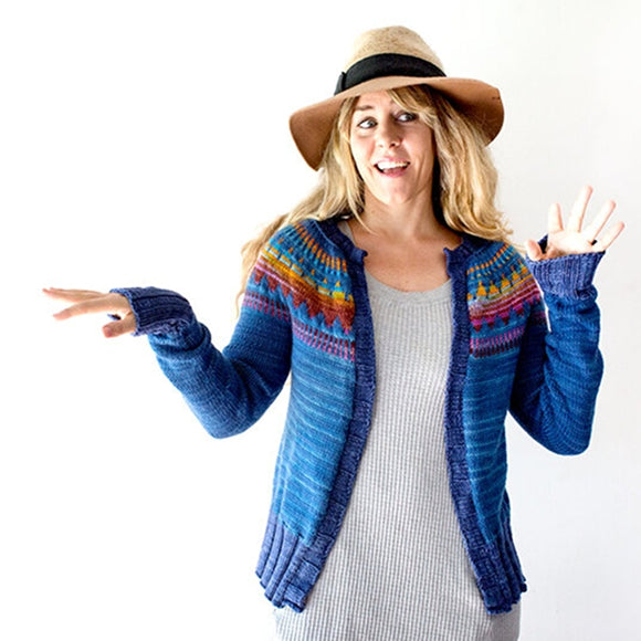 Throwback Cardigan Kit by Andrea Mowry