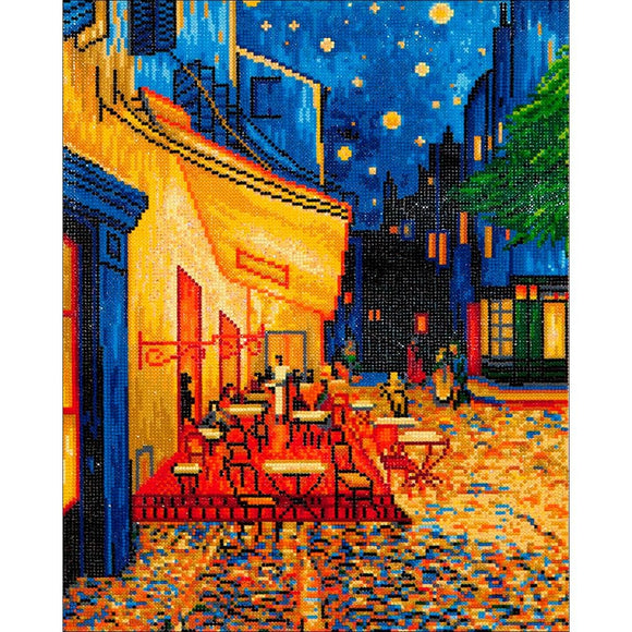 van gogh cafe at night canvas wall art print diamond dotz