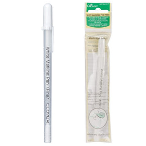 clover removable white marking pen for marking sewing patterns