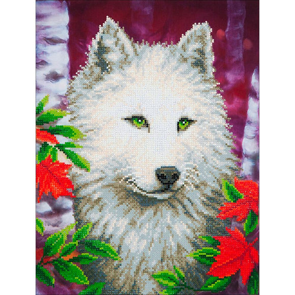 diamond dotz white wolf animal home decorations