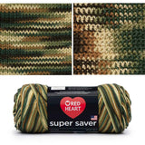 red heart super saver variegated yarn woodsy