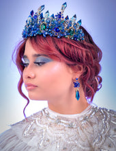 Load image into Gallery viewer, Inspired Blue Mermaid Tiara