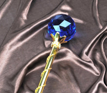 Load image into Gallery viewer, Spell-Casting Blue Crystal Scepter Wand