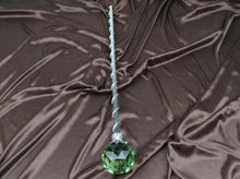Load image into Gallery viewer, Spell-Casting Green Crystal Scepter Wand