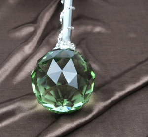 Spell-Casting Green Crystal Scepter Wand