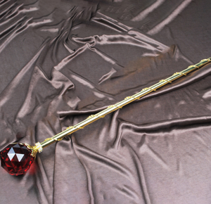 Spell-Casting Red Crystal Scepter Wand
