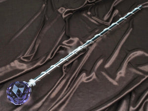 Spell-Casting Purple Crystal Scepter Wand