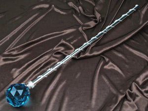 Spell-Casting Sky Blue Crystal Scepter Wand