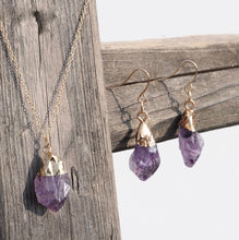 Load image into Gallery viewer, Lucky Stone Pendant/Earring Set