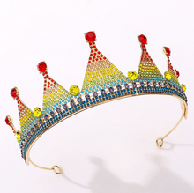 Load image into Gallery viewer, Passionate Rainbow Pride Tiara