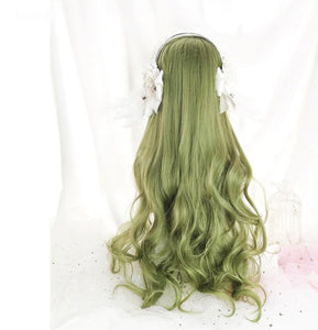 Bright Green Tree Fairy Wig