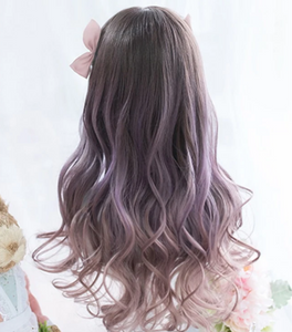 Cultured Sophisticated Brown/Purple Wig