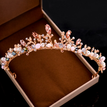 Load image into Gallery viewer, Spirited Dainty Pink Tiara