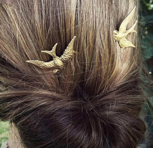 Soaring Gold Bird Hairpieces