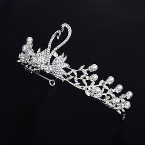 Magnificent Silver Swan Crown