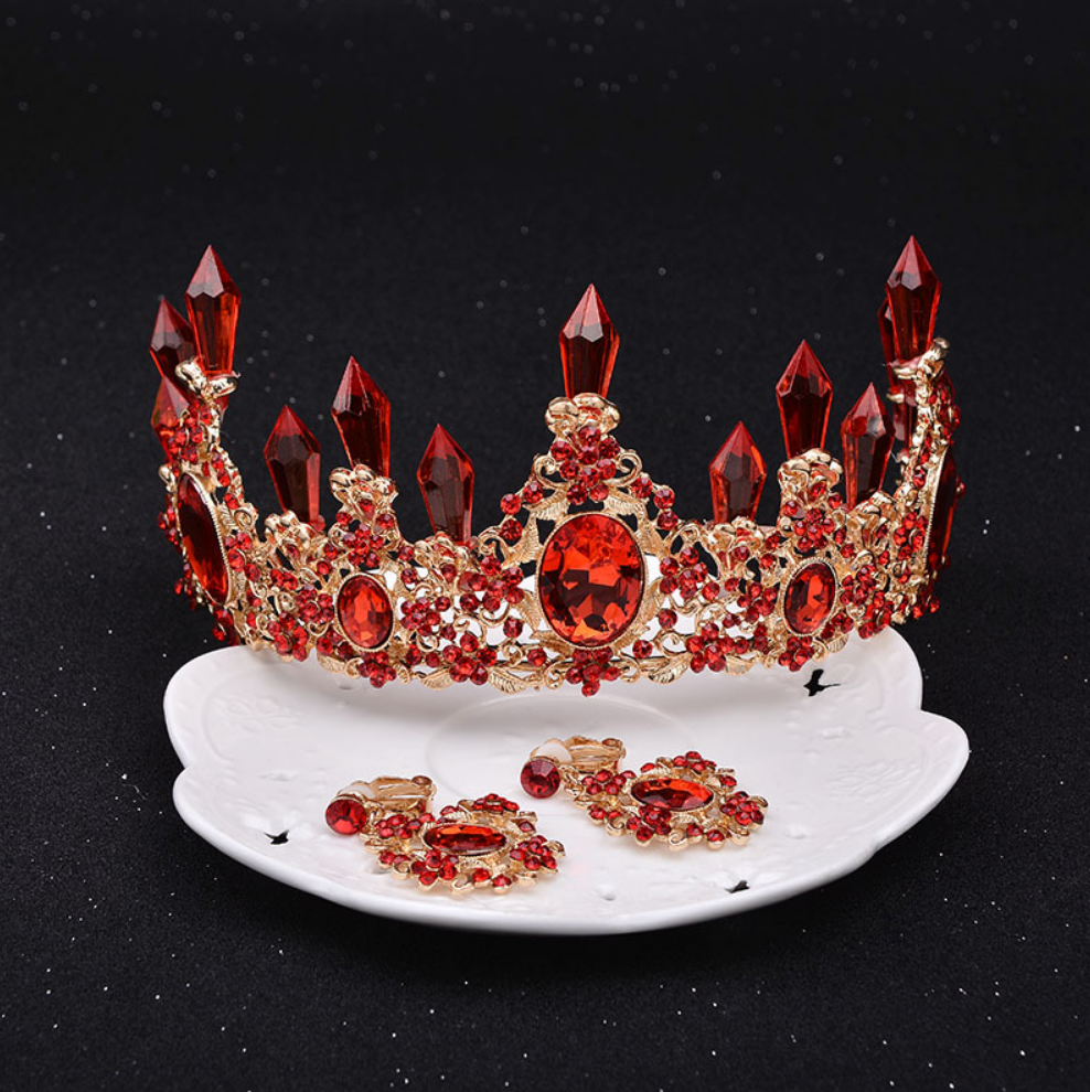 Flaming Hot Crystal Crown In Gold