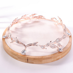 Just Pixie Waterdrop Tiara in Rose