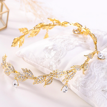 Load image into Gallery viewer, Just Pixie Waterdrop Tiara in Gold