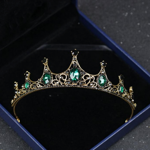 Beguiling Green Crystal Crown
