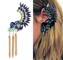 Load image into Gallery viewer, Dauntless Peacock Earring Headdress