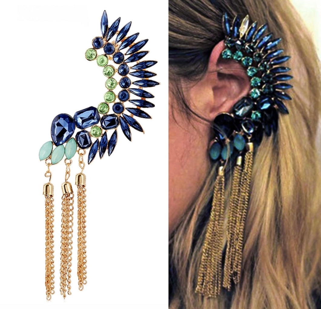 Dauntless Peacock Earring Headdress
