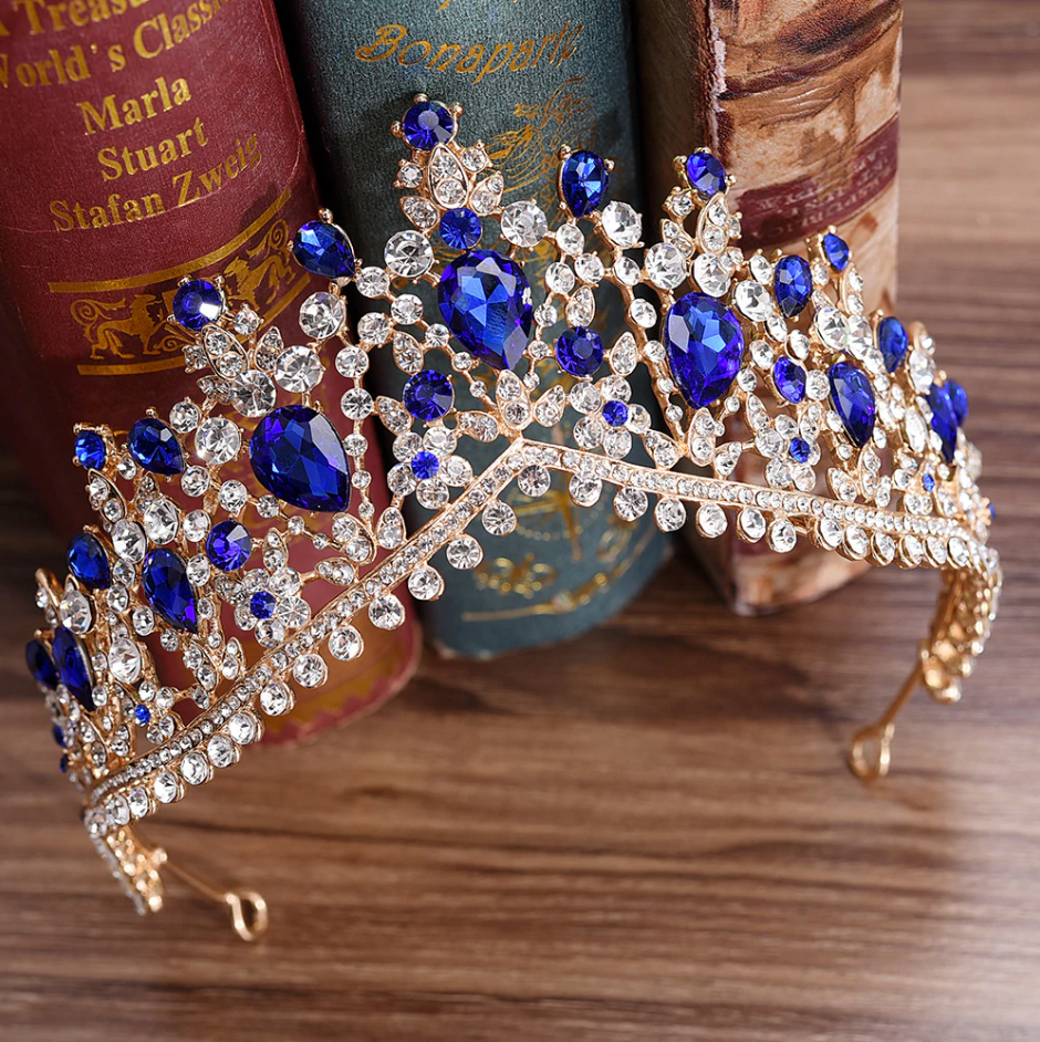 Gorgeous European Tiara in Blue