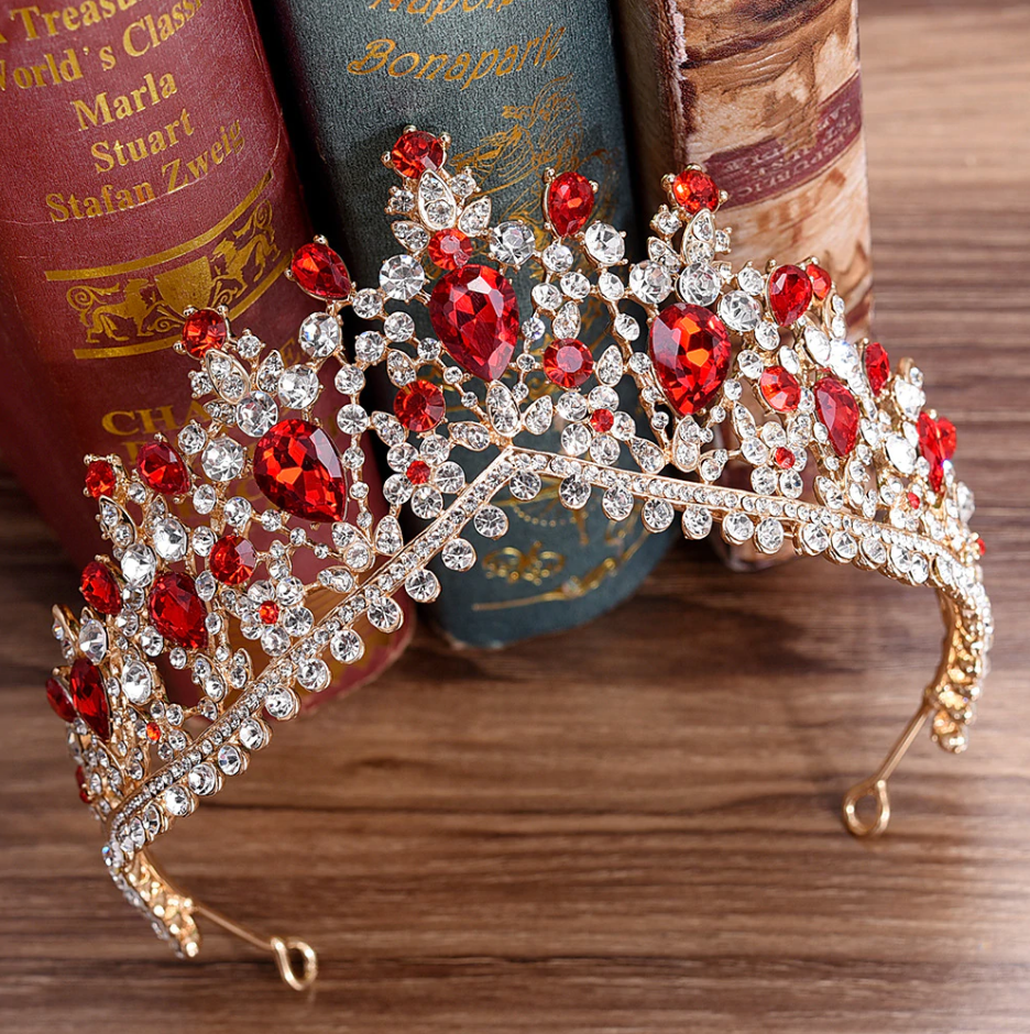 Gorgeous European Tiara in Red