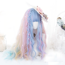 Load image into Gallery viewer, Wonderland Rainbow Unicorn Wig