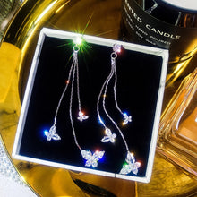Load image into Gallery viewer, Fluttering Twinkling Butterfly Earrings