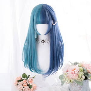 Outstanding Brilliant Blue Wacky Wig