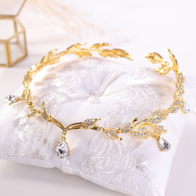 Just Pixie Waterdrop Tiara in Gold