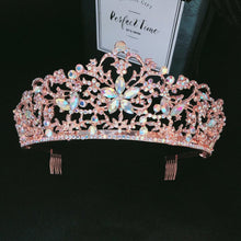Load image into Gallery viewer, Rose Gold Floral Paradise Diadem