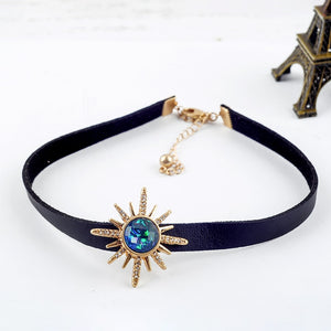 Occult Crystal Deity Choker