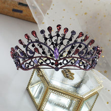 Load image into Gallery viewer, Popular Purple Peacock Diadem