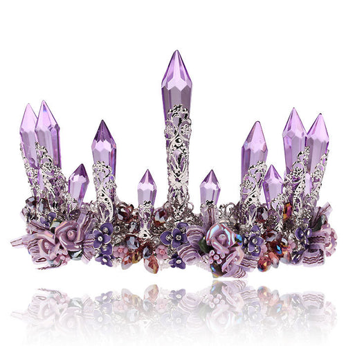 Purple Crystal Queen Crown