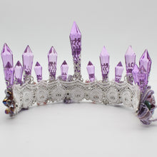 Load image into Gallery viewer, Purple Crystal Queen Crown