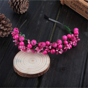 Bohemian Berry Fairy Headband