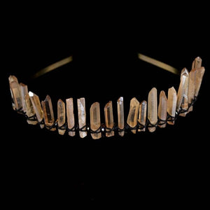 Healing Raw Crystal Tiara
