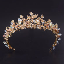 Load image into Gallery viewer, Wholesome Golden Floral Tiara