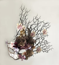 Load image into Gallery viewer, Venetian Floral Branch Mask