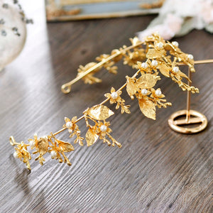 Lovely Gold Leaf Tiara