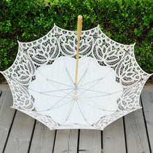 Load image into Gallery viewer, Tasteful Vintage Lace Parasol